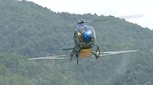 浏阳:用直升机喷药杀竹蝗