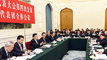 <B>刘云</B>山参加宁夏代表团审议