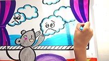 5068网儿童画第30期:小老鼠的云被子