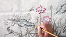 5068网国画课程第46期:工笔画 荷花上色