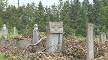 离家太近的公墓,心慌慌! 公墓离居民区仅<B>100</B>米 正对不少村民家门口