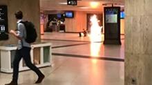 比利时:布鲁塞尔中央火车站爆炸 嫌犯被制服