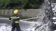 高温下的消防战士