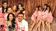 汪涵与陈乔恩谢娜莫文蔚相聚 满屏都是大长腿高颜值