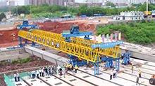 曙光路跨京广铁路桥开始架梁